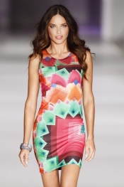 Victoria`s Secret model, Adriana Lima, the image for Desigual