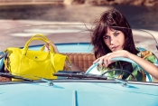 The IT girl, Alexa Chung, for Longchamp