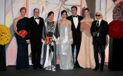 Rose Ball Monaco 2014, Princess Charlene, the icon of the event in an Akris dress