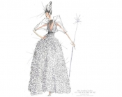 Wizard of Oz characters designed by Marc Jacobs, Donna Karan, Jenny Packham and many others