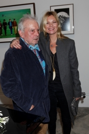 Kate Moss at the inauguration of the David Bailey exposition Stardust at London