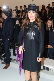Salma Hayek at Gucci Fall 2014 Fashion Show in Milan