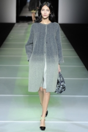 Giorgio Armani Fall 2014 from Fade to Grey to Lime Green