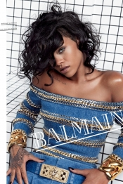 Rihanna, the muse for Balmain spring fashion campaign