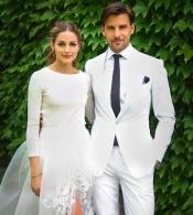 Olivia Palermo gets married dressed in Carolina Herrera