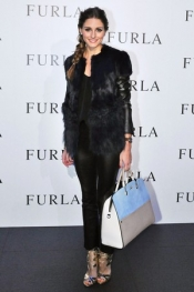 Olivia Palermo in Tokyo for the Furla's spring-summer collection launch