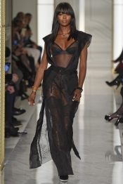 Naomi Campbell for La Perla Atelier Couture Spring 2015