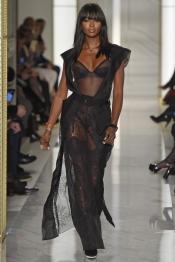 Naomi Campbell for La Perla Atelier Couture Spring 2015