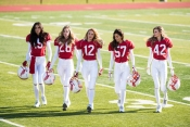 Victoria's Secret Angels for the Super Bowl XLIX commercial