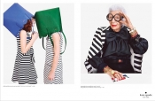 93 years old Iris Apfel models for Kate Spade campaign with Karlie Kloss