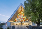 Shiseido presents Reverberation, Pavilion of Light and Sound Designed by Shigeru Ban