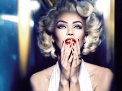 Candice Swanepoel as Marilyn Monroe for Max Factor commercial