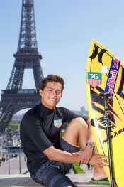 The surf champion, Kai Lenny is in Paris