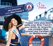 Selfie with Miss France to win a cruise