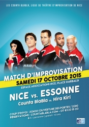 The first match of improvisation theatre for Counta Blabla in Nice