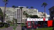 Ephemeral Tesla Showroom at Grand Hôtel, Cannes