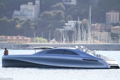 The first Mercedes Benz yacht seen at St Jean Cap Ferrat
