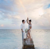 Top Model Isabeli Fontana got married in Maldives