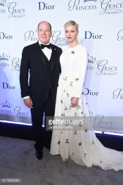 Princess Charlene and Prince Albert attend 2016 Princess Grace Awards Gala