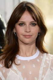 Felicity Jones, ambassador for the beauty brand Clé de Peau