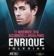 Win two tickets at Enrique Iglesias Concert in Paris