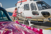 Heiko Saxo Paints on the Helicopter in Monaco