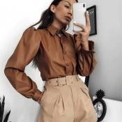 Faux Leather Blouse Giveaway From Oh La Chic