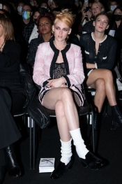 Front Row At Chanel With Muses Lily-Rose Depp, Kristen Stewart, Charlotte Casiraghi