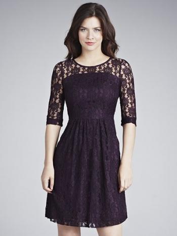 Betty Jackson Two Lace Dress, Plum