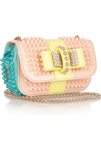db1a1c85b96 CHRISTIAN LOUBOUTIN Sweet Charity studded patent-leather shoulder bag