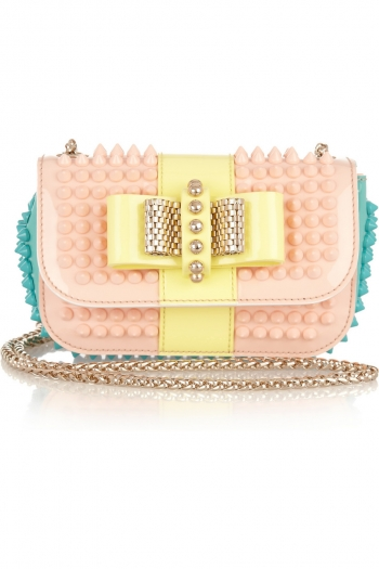 2dd75e77546 CHRISTIAN LOUBOUTIN Sweet Charity studded patent-leather shoulder bag