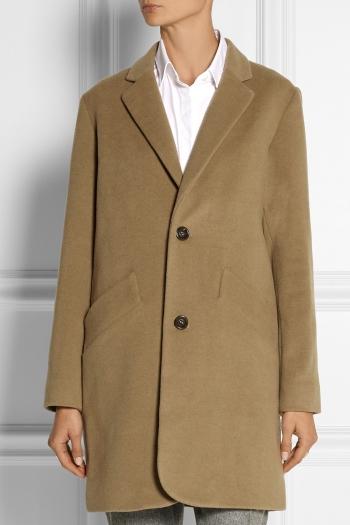 79ca970e1e A.P.C. ATELIER DE PRODUCTION ET DE CRÉATION Manteau Chesterfield wool-blend  coat