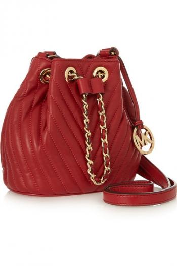 MICHAEL MICHAEL KORS Frankie mini quilted leather shoulder bag