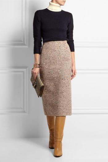 b1a7e19409 ACNE STUDIOS Fenel Trash wool-blend tweed midi skirt