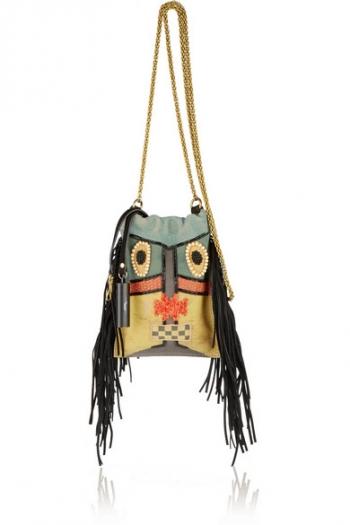 JÉRÔME DREYFUSS Gary small embellished suede shoulder bag e04b5e1aee153