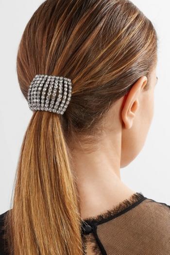 JENNIFER BEHR Gunmetal-plated Swarovski crystal hair tie b607a7c30ff
