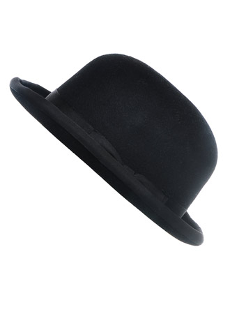 Women's Black Rounded Trilby