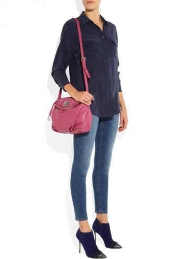 MARC BY MARC JACOBS Classic Q Natasha textured-leather shoulder bag