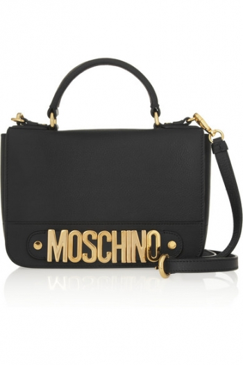 57b8a7423c MOSCHINO Textured-leather shoulder bag