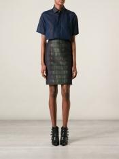 CEDRIC CHARLIER crocodile skin print skirt