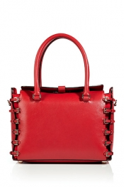 Valentino Red Buckled Tote