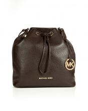MICHAEL MICHAEL KORS Textured Leather Drawstring Satchel