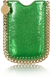 STELLA MCCARTNEY Falabella metallic faux leather iPhone 5 sleeve