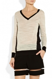 DKNY Cotton-blend slub-jersey sweater