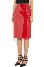 VALENTINO Patent pencil skirt