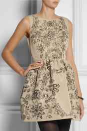 RED VALENTINO Printed taffeta-twill dress
