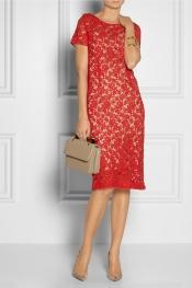 COLLETTE BY COLLETTE DINNIGAN Cotton-lace dress