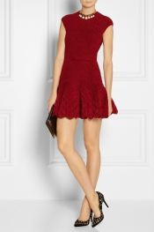 ALEXANDER MCQUEEN Quilted chenille dress