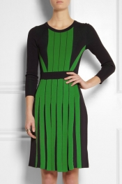 MICHAEL MICHAEL KORS Pleated stretch-knit dress