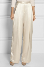 BY MALENE BIRGER Cosyna high-waisted silk-satin pants